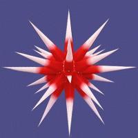 Herrnhuter Innenstern - roter Kern weiße Spitzen 80 cm